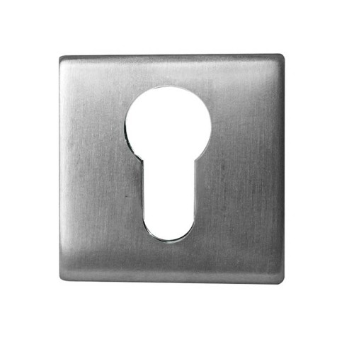 Main photo of LocksOnline Square Euro Profile Stainless Steel Escutcheon