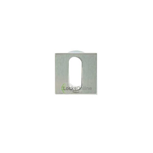LocksOnline Minimal Flush Fit Square Keyhole Escutcheon