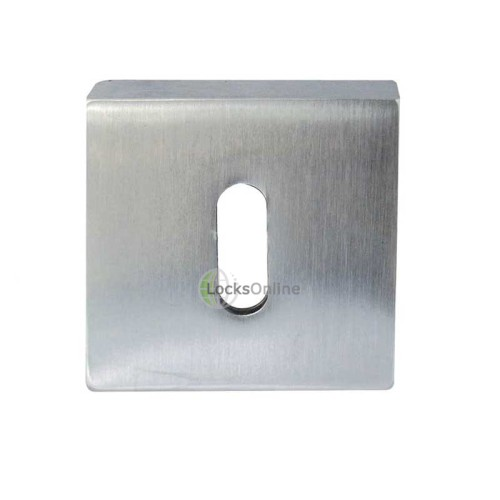 "Main photo of LocksOnline ""Rombo"" Square Keyhole Escutcheon"