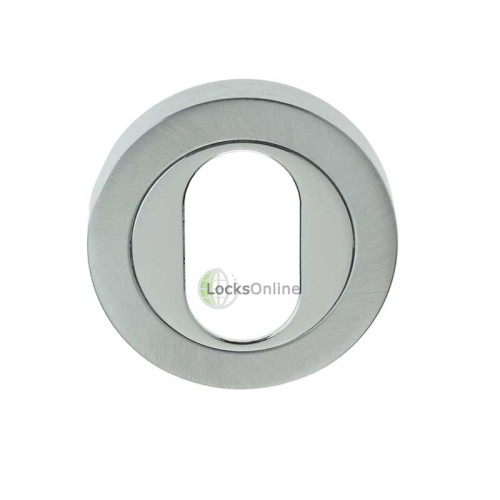 LocksOnline Framed Circular Oval Profile Escutcheons