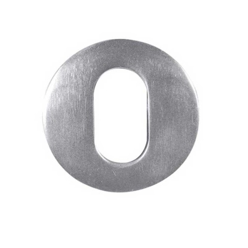 Main photo of LocksOnline Aluminium Oval Profile Keyhole Escutcheon