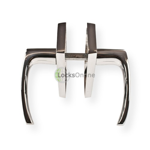 "LocksOnline ""Tuscany"" Door Handle Set on Backplate"