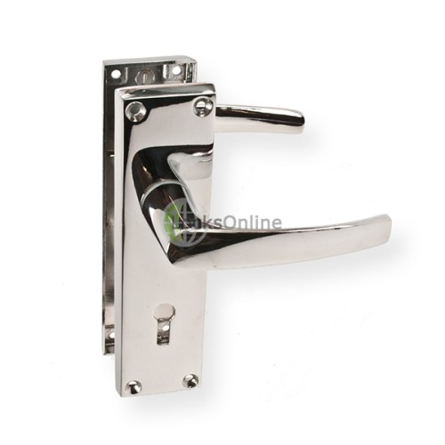 "Main photo of LocksOnline ""Tuscany"" Door Handle Set on Backplate"