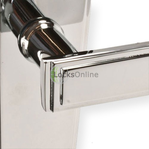 "LocksOnline ""Deco"" Door Handle Set on Backplate"