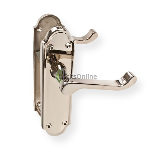 "Main photo of LocksOnline ""Sherborne"" Door Handle Set on Backplate"