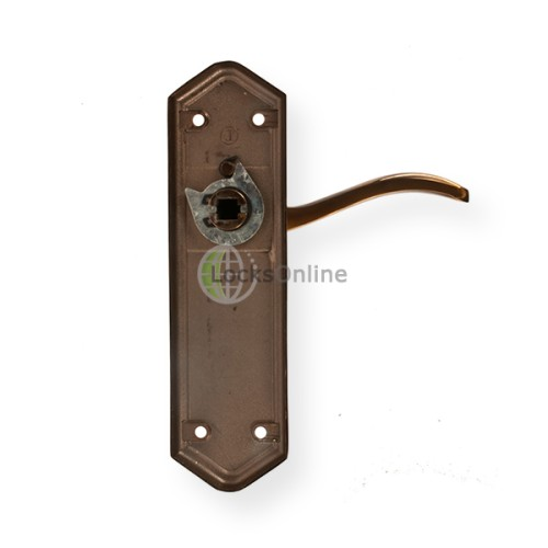 "LocksOnline ""Paris"" Door Handle Set on Backplate"