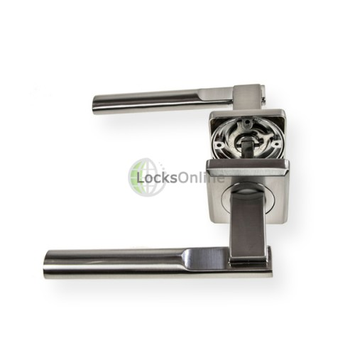 "LocksOnline ""Seros"" Lever Door Handle on Square Rosette"