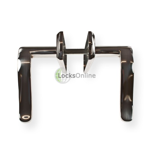 "LocksOnline ""Amalfi"" Door Handle Set on Backplate"