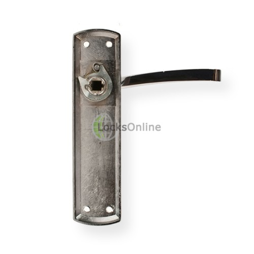 "LocksOnline ""Genoa"" Door Handle Set on Backplate"