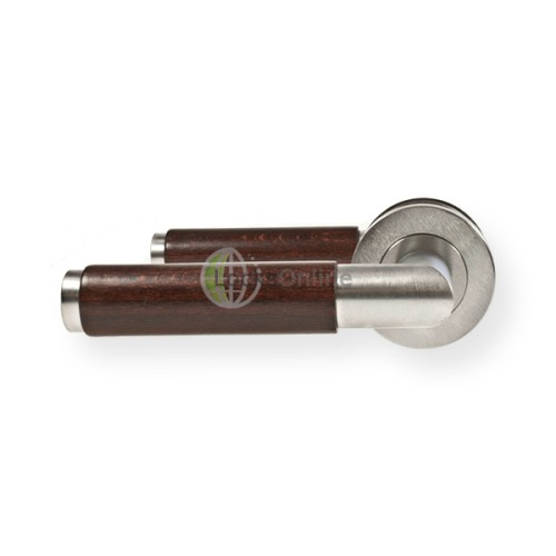 "Main photo of LocksOnline ""Cuba"" Lever Handle Set on Round Rosette"
