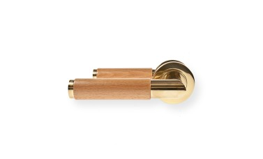 "LocksOnline ""Havanna"" Lever Handle Set on Round Rosette"