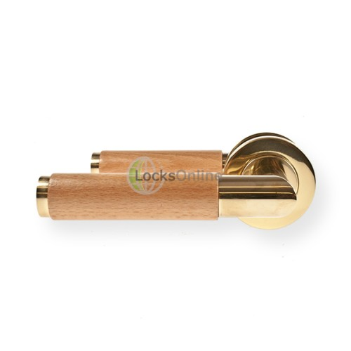 "Main photo of LocksOnline ""Havanna"" Lever Handle Set on Round Rosette"