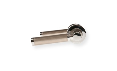 "LocksOnline ""Charlotte"" Lever Handle Set on Round Rosette"