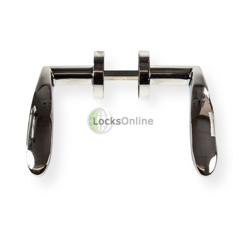 "LocksOnline ""Monaco"" Lever Door Handle on Round Rosette"