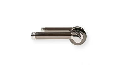 "LocksOnline ""Octavia"" Lever Handle Set on Round Rosette"