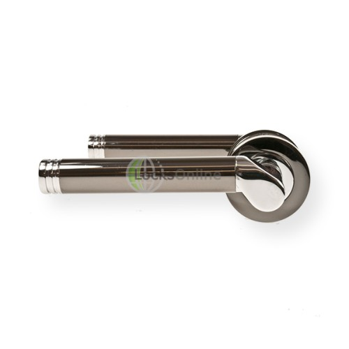 "Main photo of LocksOnline ""Octavia"" Lever Handle Set on Round Rosette"
