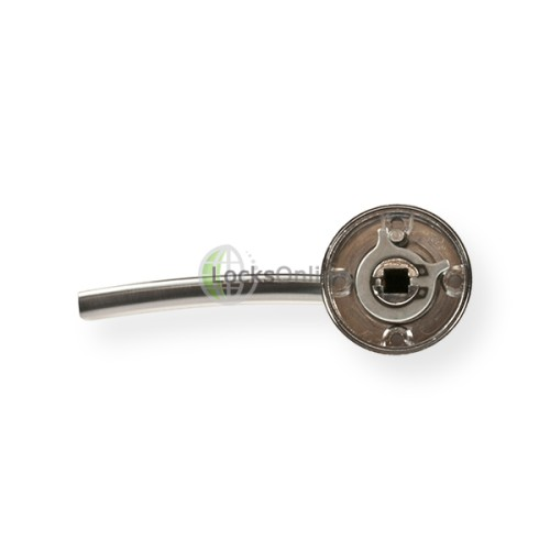 "LocksOnline ""Modena"" Lever Handle Set on Round Rosette"