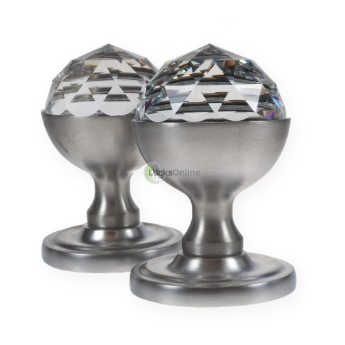 Main photo of LocksOnline Acorn Crystal Mortice Door Knob Set with Swarovski Elements