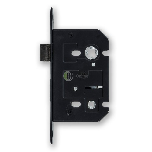 Jedo Black Faced Bathroom Door Lock