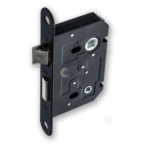 Main photo of Jedo Black Faced Bathroom Door Lock
