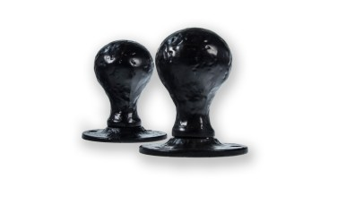 LocksOnline Antique Black Ball Shaped Mortice Door Knob Set