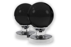 LocksOnline Glass Ball Mortice Door Knob Set - Black