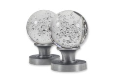 LocksOnline Bubble Glass Mortice Door Knob Set