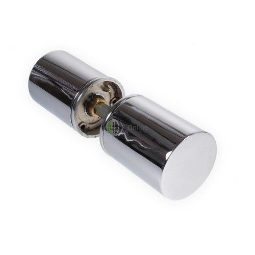 LocksOnline Chrome Cylindrical Mortice Door Knob Set
