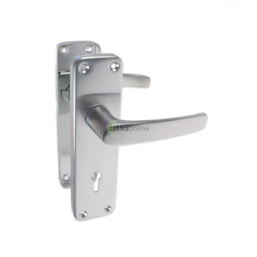 Main photo of LocksOnline Contract Aluminium Lever Door Handle on Backplate Set
