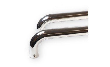 LocksOnline D Shaped Back to Back Polished Stainless Steel Door Pull Handle - 22mm Bar