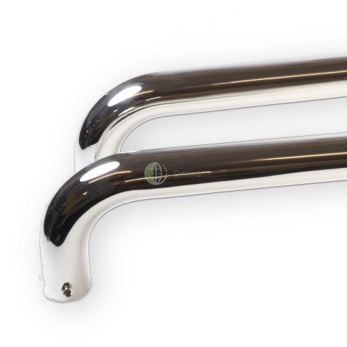 Main photo of LocksOnline D Shaped Back to Back Polished Stainless Steel Door Pull Handle - 22mm Bar