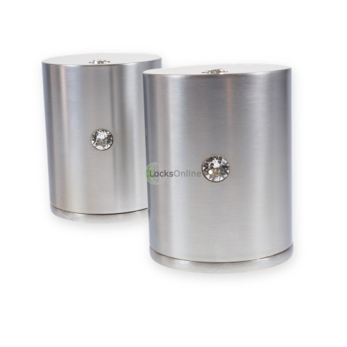 Main photo of LocksOnline Double Crystal Cylindrical Mortice Door Knob Set with Swarovski Elements