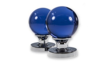 LocksOnline Glass Ball Mortice Door Knob Set - Blue