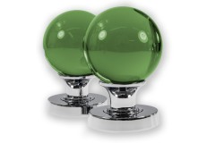 LocksOnline Glass Ball Mortice Door Knob Set - Green