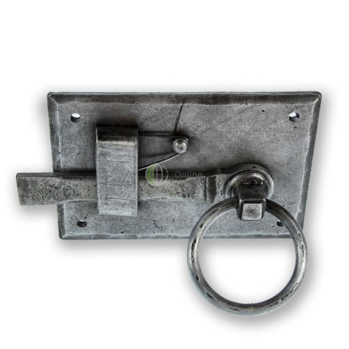 Main photo of LocksOnline Hand-Forged Pewter Gate Latch