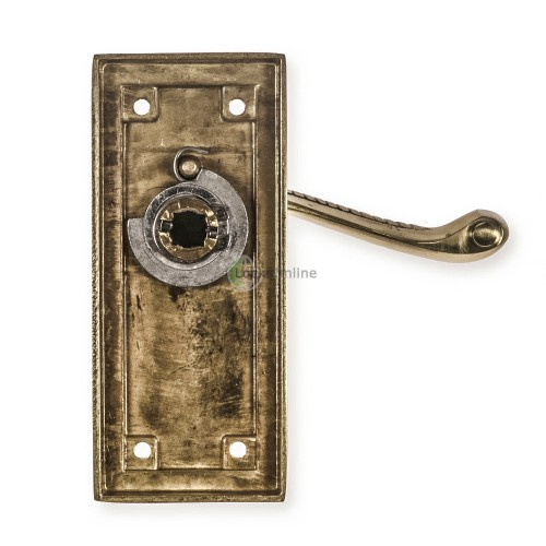 "LocksOnline ""Georgian"" Door Handle Set on Backplate"