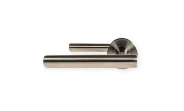 "LocksOnline ""Atlanta"" Stainless Steel Door Lever Handle on Rose"