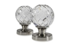 LocksOnline Palma Glass Mortice Door Knob Set