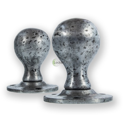 Main photo of LocksOnline Pewter Ball Shaped Mortice Door Knob Set