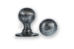 LocksOnline Pewter Ball Shaped Rim Door Knob Set