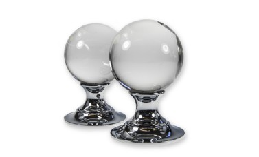 LocksOnline Plain Glass Ball Mortice Door Knob Set