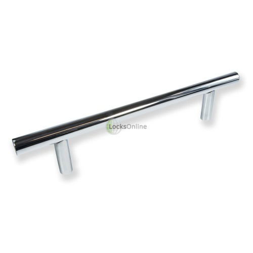 "Main photo of LocksOnline ""Guardsman"" Polished Stainless Steel Door Pull Handle"