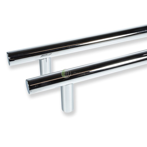 "Main photo of LocksOnline ""Guardsman"" Polished Stainless Steel Back to Back Door Pull Handle"