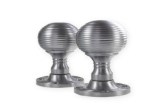 LocksOnline Reeded Mortice Door Knob Set