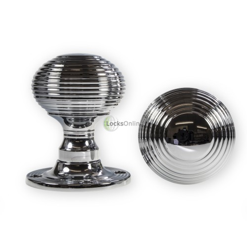 Main photo of LocksOnline Reeded Rim Door Knob Set
