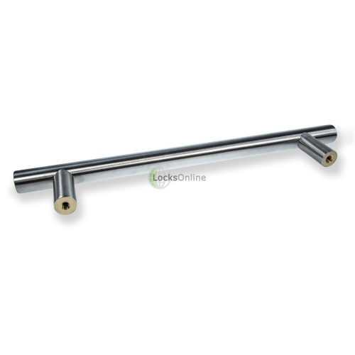 "LocksOnline ""Guardsman"" Satin Stainless Steel Bolt Through Door Pull Handle - 25mm Bar"