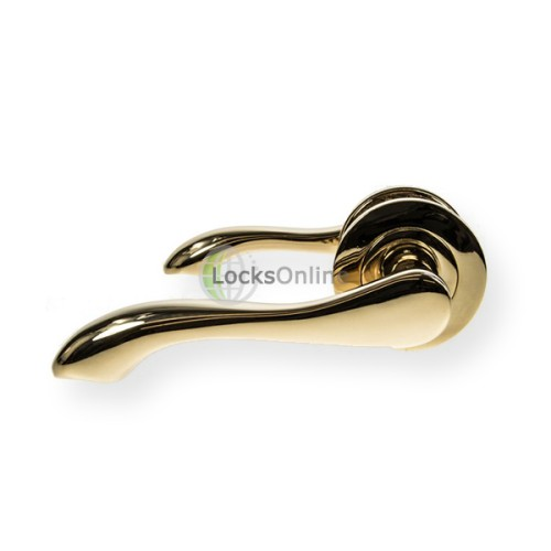 "Main photo of LocksOnline ""Gamma"" Lever Door Handle on Round Rosette"