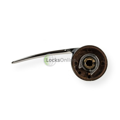 "LocksOnline ""Spiral"" Lever Door Handle on Round Rosette"