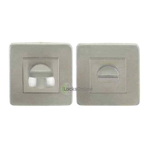 LocksOnline Stainless Steel Square Bathroom Door Lock Set