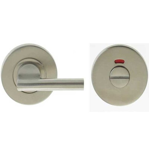 "Main photo of LocksOnline Stainless Steel ""Easy Turn"" Bathroom Door Lock Set with Indicator"